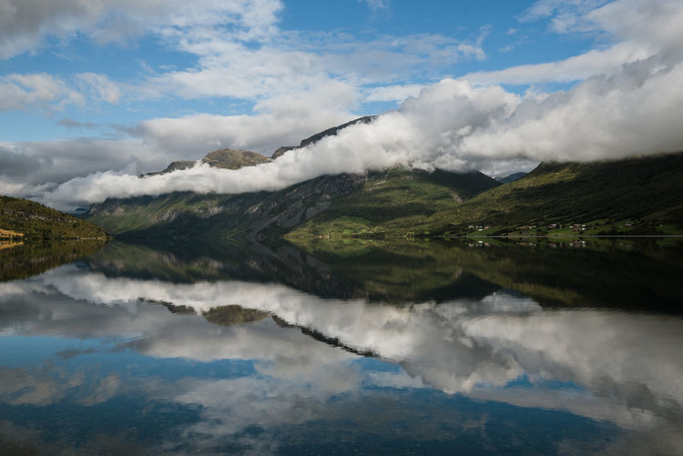 Fjords of Norway #3 Cloud - Sky Scenics - Nature Sky Beauty In Nature Water Tranquil Scene Tranquility Non-urban Scene Day Mountain No People Nature Environment Idyllic Reflection Landscape Outdoors Lake Motion Norway Fjord Fjordsofnorway Landscape_photography Naturelovers Relaxing