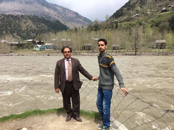 Hi! That's Me With Uncle Talat At Neelam Valley Pakistan River Neelam Behind Me Border India
