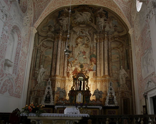 Apse Architecture Baroque Baroque Architecture Catholic Church Catolic Church Church Fresco History Human Representation Indoors  Low Angle View No People Pink Pink Color Place Of Worship Religion Saint Catherine's Church Spirituality St Catherine's Church