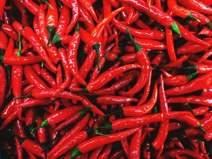 Red hot chili pepers Chili  Cuisine Food Market Market Cooking Background Mexican Food Thai Food Asian Food Foodphotography Food Market Color Red Food Background Ingredient Texture Eating Peppers Chili Pepper Hot Spice Spicy Spicy Peppers Spicy Food