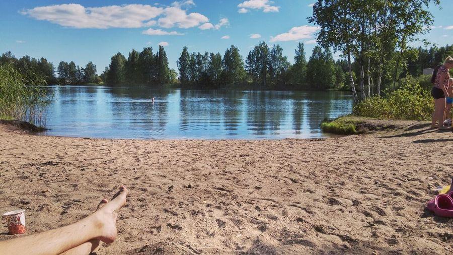 Relaxing Summer Beach Sunny Lake