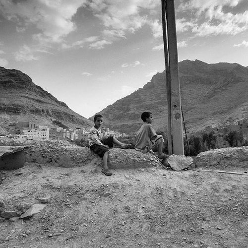 what should we do next? roadside photo, Morocco Capture The Moment Streetphotography Blackandwhite Monochrome mono bnw b_w grayscale travel traveling morocco wanderlust