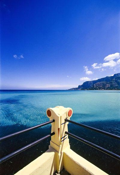 Architecture Artnouveau Italia Mediterrean Sea Mondellobeach Palermo, Italy Sea Seascape Sicilia Sky Tranquility Vacations Waterfront