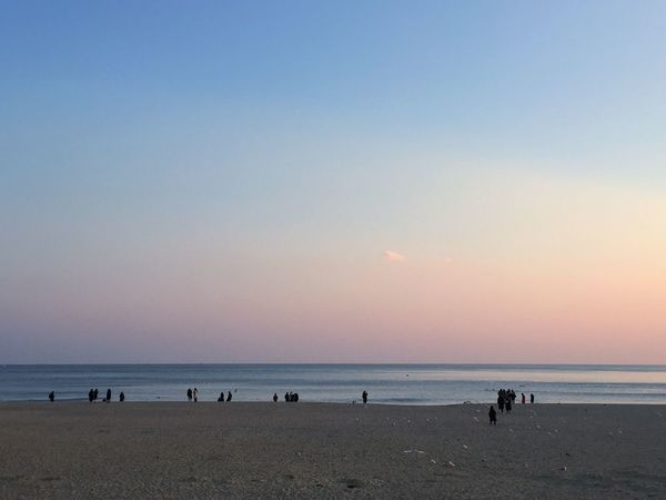 Beautiful Pastel Colors Pastel Sea Beach Nature Beach Sand Sunset Sea Nature Water Horizon Over Water Beauty In Nature Outdoors Sky