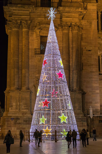 Night photography at Christmas time in Málaga, Spain Architecture Built Structure Travel Destinations Building Exterior Night Night Lights Night Photography Night View Night Views Malaga Malaga Spain Málaga,España Málaga Spain ❤ Christmas Lights Christmas christmas tree Christmas Time Outdoors