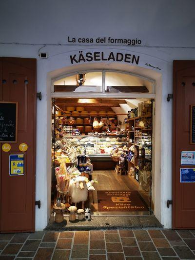 View of illuminated store