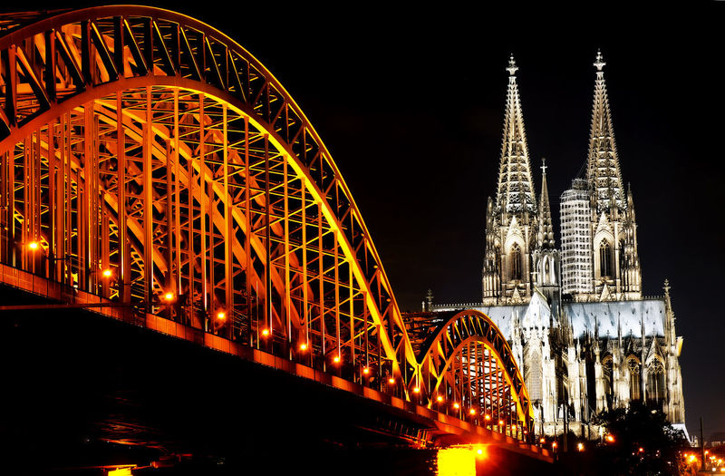 Sony Architecture Architecture Architecture_collection Bridge Deutschland Germany Köln Kölner Dom Kölner Dom Cathedral Light Night Tourism Travel Travel Destinations Travel Photography