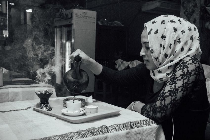 Ethiopien woman poured coffee. Casual Clothing Coffee Coffee Break Coffee Time Drink Ethiopian Food Ethiopien Women Leisure Activity Woman