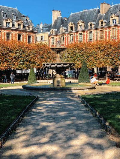 Architecture Autumn Cityscape France October Paris Tourist Attraction  Europe Fall Leaves Monument Travel Destinations Vacation
