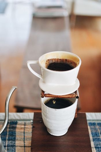 Blackcoffee Handdrip Lifestyles DripCoffee Drip Drink Table Coffee Food And Drink Refreshment Mug Coffee - Drink Cup Coffee Cup Hot Drink Close-up