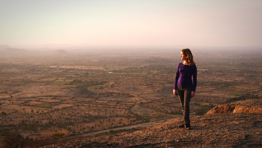 Standing on the big rock, Narlai, Rajasthan, India. Edge Of The World Rajasthan Remote Location EpicView Immensity India Enjoying The Sunset From Above  Landscape Taking Photos Lost In The Landscape