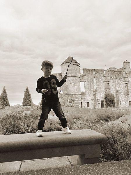 Architecture Childhood Sky Outdoors black and white Falkland Fife Falkland palace
