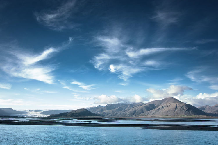 Beauty In Nature Clouds Day Glacier Island Landscape Mountain Mountain Range Nature No People Outdoors Scenics Sky Water Iceland