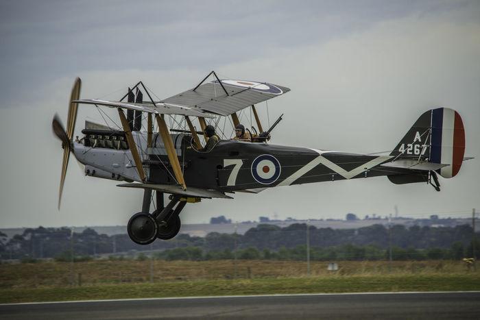 Flight Flying Fighter Plane World War 1 Ww1 WW1 Aeroplane Royal Flying Corps RE8 Biplane Aviators Aviation Aviate