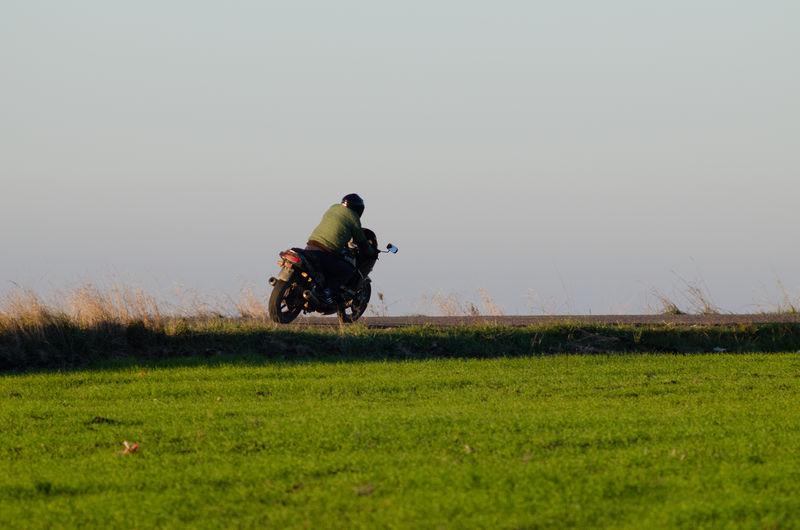 Moto Mororsport Sport Full Length Men Headwear Sky Grass A New Perspective On Life