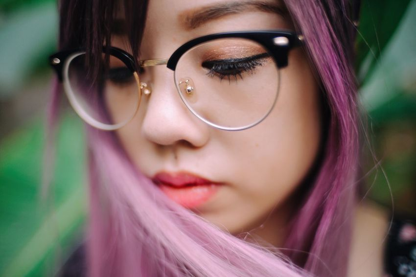 Youth Young Adult Young Women Eyeglasses  Close-up Beautiful Woman Human Face Real People Lifestyles Portrait One Person Outdoors Day Leisure Activity