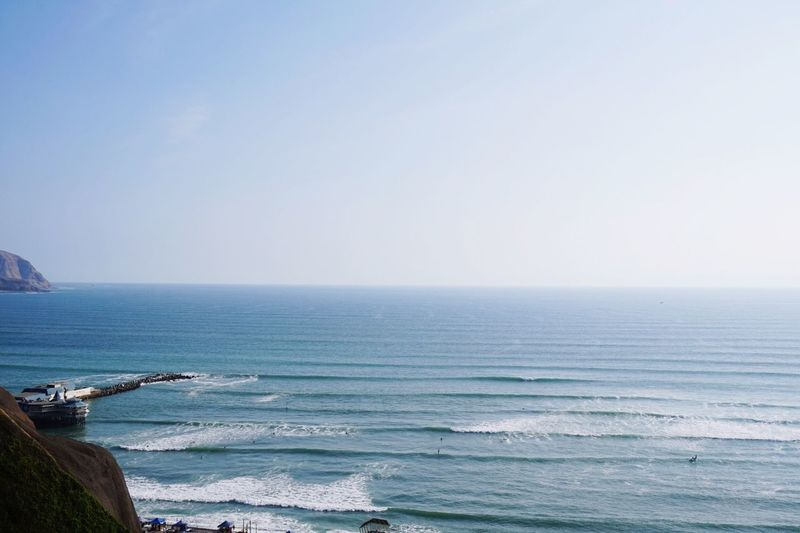 Sea Horizon Over Water Water Scenics Beauty In Nature Nature Clear Sky Beach Tranquil Scene Copy Space Tranquility Outdoors Sky Day Blue No People Wave EyeEmNewHere