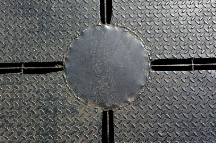 Backgrounds Built Structure Circle Close-up Cobblestone Day Design Drain Cover Geometric Shape High Angle View Indoors  Lighting Equipment Metal Metallic No People Pattern Photography Shape Sphere Textured