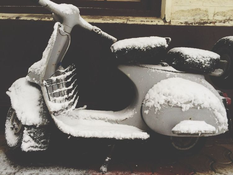 Old Scooter Snow
