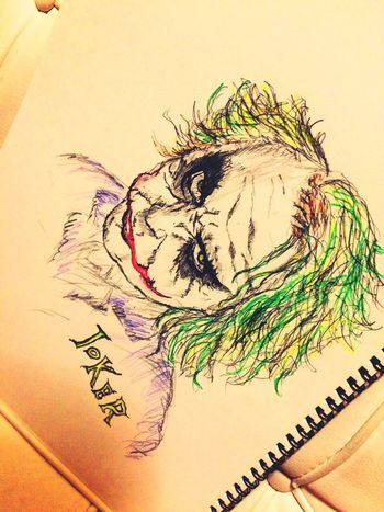 Drawing Sketch Joker Batman Coloful