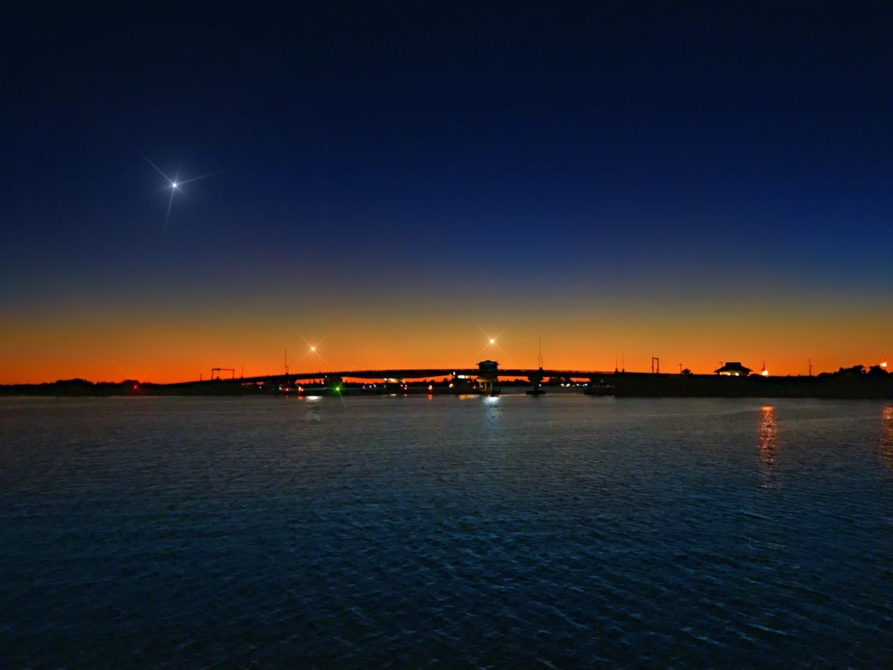 night, illuminated, beauty in nature, no people, sunset, outdoors, nature, water, moon, tranquility, sky, scenics, clear sky