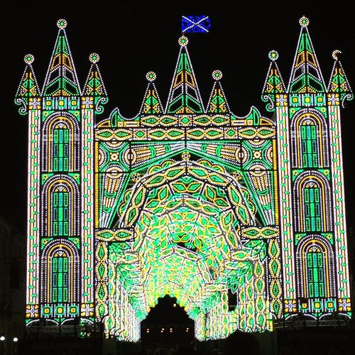 Illuminated Night Architecture Travel Destinations Built Structure Arch No People Outdoors Edinburgh United Kingdom Christmas Lights Edinburgh Christmas Market