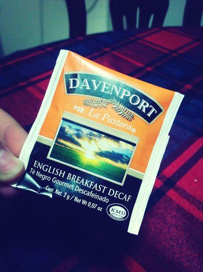 Probando mi nuevo té:3