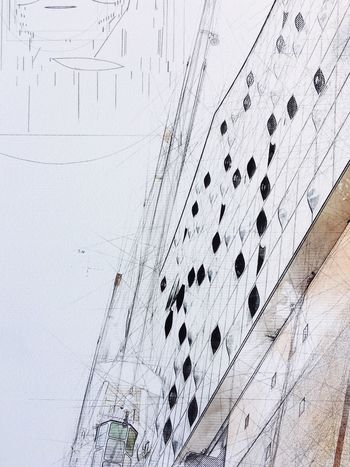 Elbphilharmonie Elphi Marija Behrendt Hamburg Background Drawing Built Structure Wall - Building Feature Architecture No People Day Nature Pattern Building Exterior Low Angle View Backgrounds Art And Craft