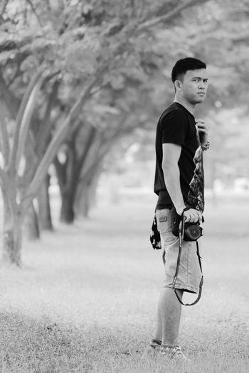 Full length of boy walking outdoors