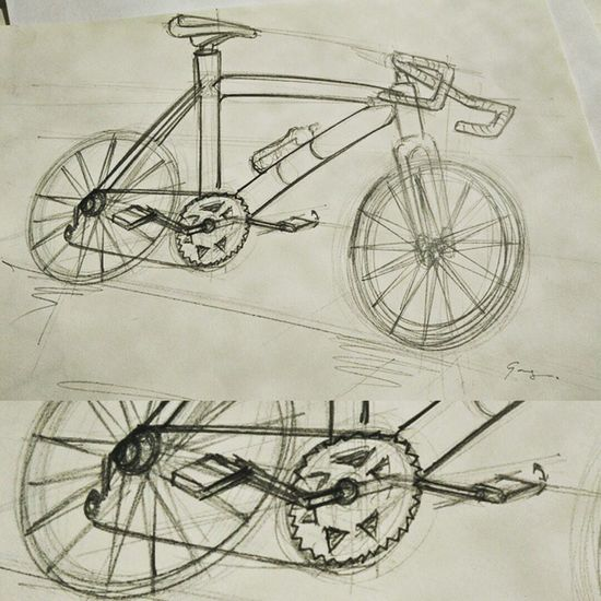 A day is not spent well if I haven't Sketched anything. Designers should constantly keep their pencils running. With advent of technology, my favourite medium remains to be Paper and Pencil . Bicycle Sketch Quicksketch Freehand Instasketch