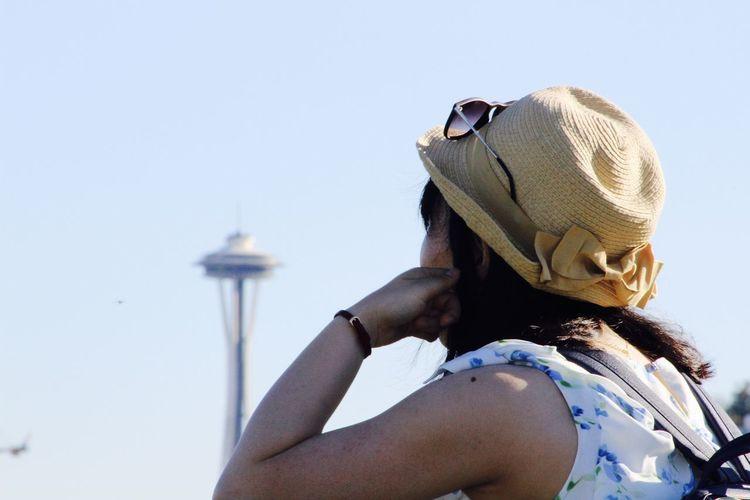 Casual Clothing Headshot Modern Person Space Needle Tourism Tourist Tourist Attraction  Tourist Spot