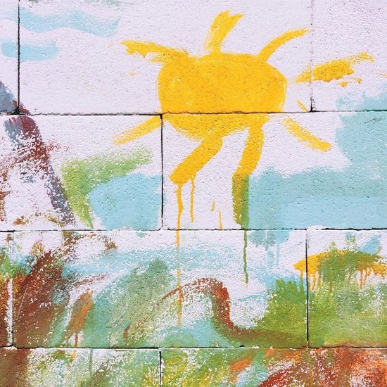 Wall - Building Feature Creativity Painted Image No People Backgrounds Full Frame Day Spray Paint Close-up Outdoors Children Drawing