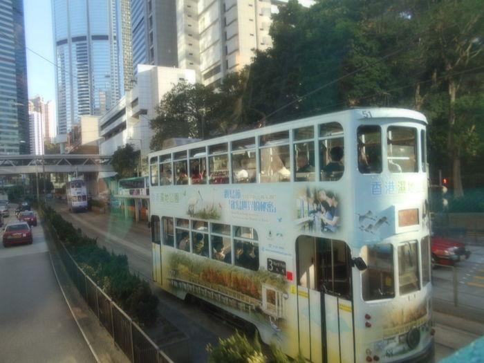 City Transportation Land Vehicle Tram In Hongkong