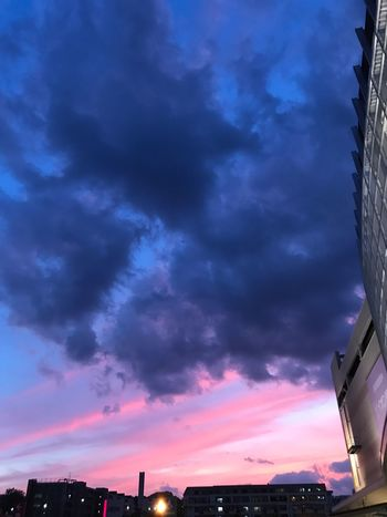 Sky Cloud - Sky Built Structure Architecture Building Exterior Dramatic Sky No People Sunset Low Angle View Outdoors Silhouette Scenics Beauty In Nature Nature City Day