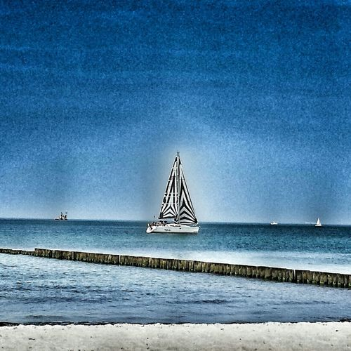 Relaxing Life Is A Beach Sailing Boat