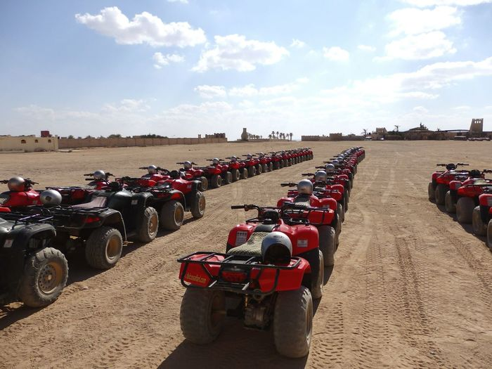 Quads in the middle of the desert Quads Desert Sahara Deserts Around The World Starting A Trip Adventure Adventuretime Quad Egypt Traveling EyeEm Best Shots Eye4photography  Let's Do It Chic! Everything In Its Place The KIOMI Collection