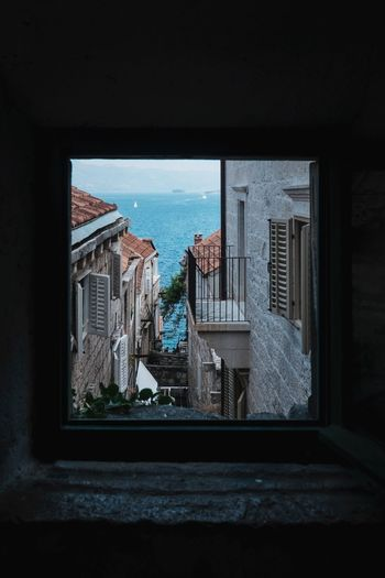 Architecture Blue Building Built Structure City Croatia Day Korculaoldtown Korčula Nature No People Residential Building Residential District Residential Structure Sky Window Window Shopping Windows