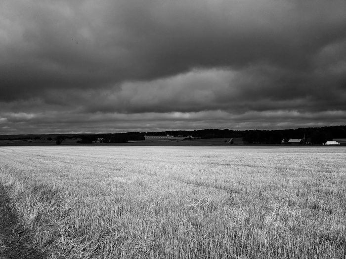 Powerful Cloudscapes over my Neighborhood Fields, Sweden. EyeEm Nature Lover Blackandwhite Fall Beauty