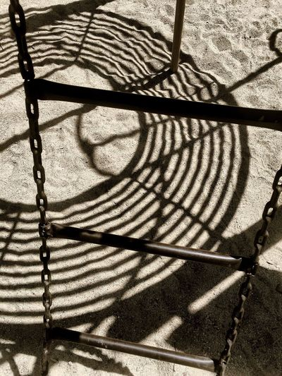 Lines Playground Focus On Shadow Shadow Sunlight Day No People Outdoors Pattern Sand Nature Ladder Chain Eye4photography  IPhoneography Fine Art Photography Zen Miksang Idaho EyeEm Gallery High Angle View Simplicity Shadows & Lights Patterns Sandpoint