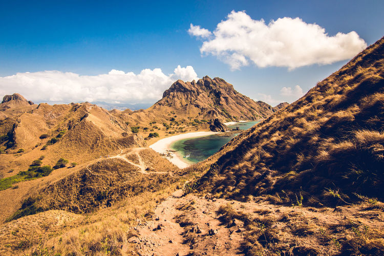 ASIA Holidays INDONESIA Komodo Dragon Path Travel Wanderlust Beach Beauty In Nature Cloud - Sky Day Komodo Komodo National Park Landscape Mountain Nature No People Outdoors Padar Padar Island Physical Geography Scenics Sky Tranquil Scene Tranquility Been There. Lost In The Landscape An Eye For Travel The Great Outdoors - 2018 EyeEm Awards The Traveler - 2018 EyeEm Awards