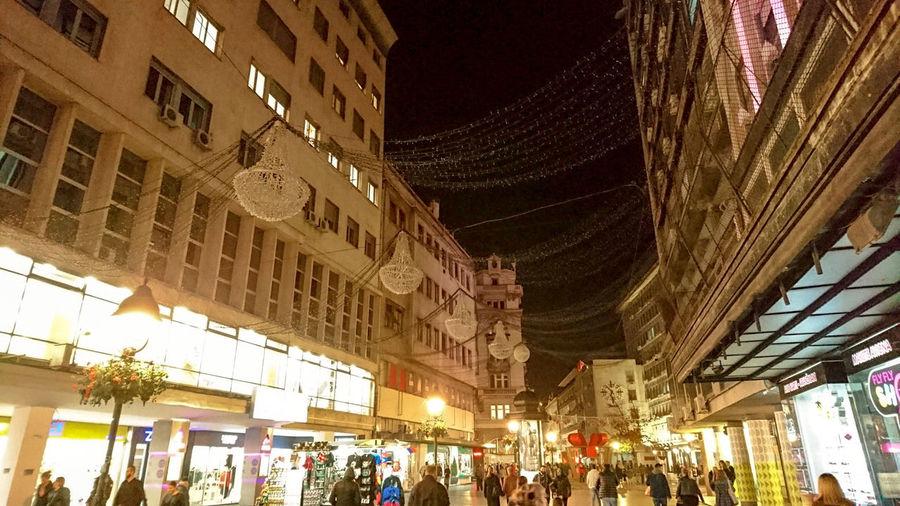 Knez Mihajlova Sony Xperia Z5 Lights Serbian History City Seasons New Year Belgrade Ig_belgrade