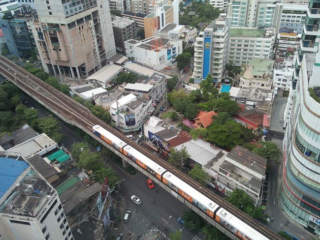 Full Frame Day Backgrounds Outdoors Architecture No People Built Structure Top View Building Exterior Close-up City Nature Skytrain Skytrain BTS Skytrainbangkok Bangkok Thailand.