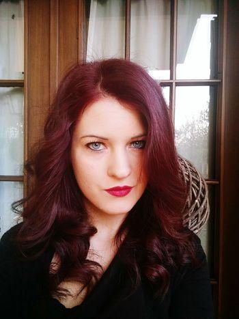 This Is Me Blue Eyes Purple Hair Red Lips Happy Me