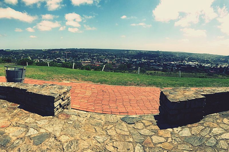 Streetphotography Nature View Landscape Day Town Outdoors Buildings Hill Monument Scenics Lifestyles Grahamstown Adapted To The City