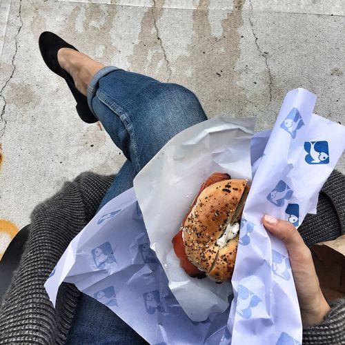 Bagel Lox Bagel Outdoor Lunch City Lunch