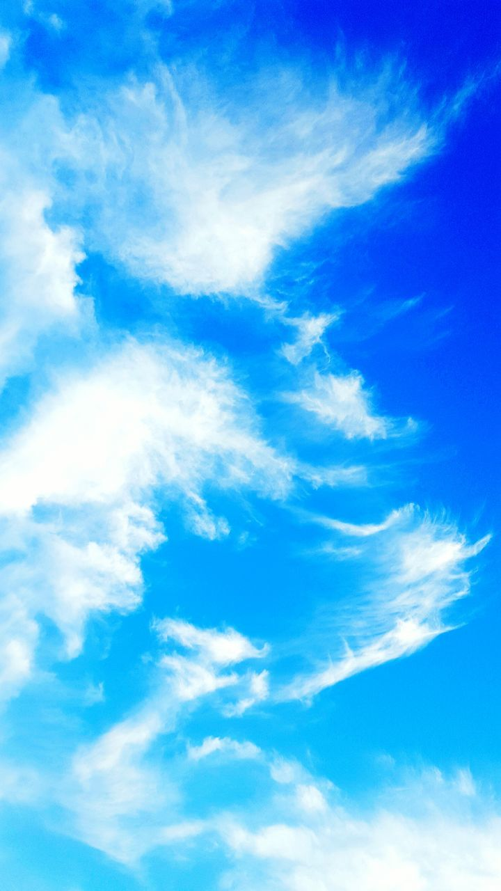 blue, sky, cloud - sky, beauty in nature, nature, backgrounds, low angle view, sky only, scenics, full frame, day, no people, tranquility, outdoors