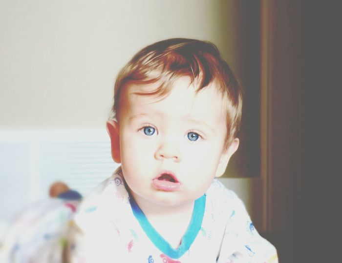 BabyBlueEyes Staring At Me One Person Indoors  Close-up Childhood Faded Beauty DontGrowUpTooFast