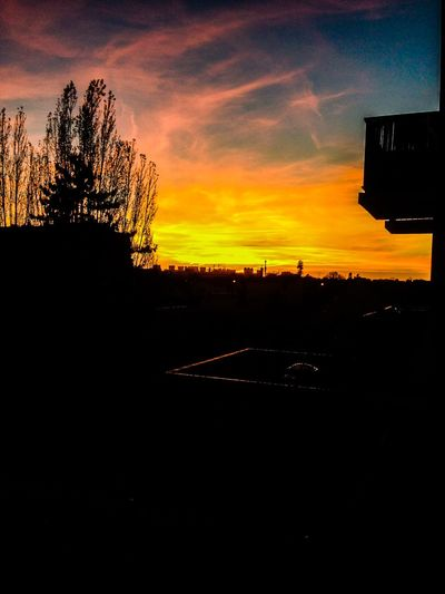 Endofday The View From My Window Saint-Maur-des-Fossés Sunset_collection Sunset Sky And City City View