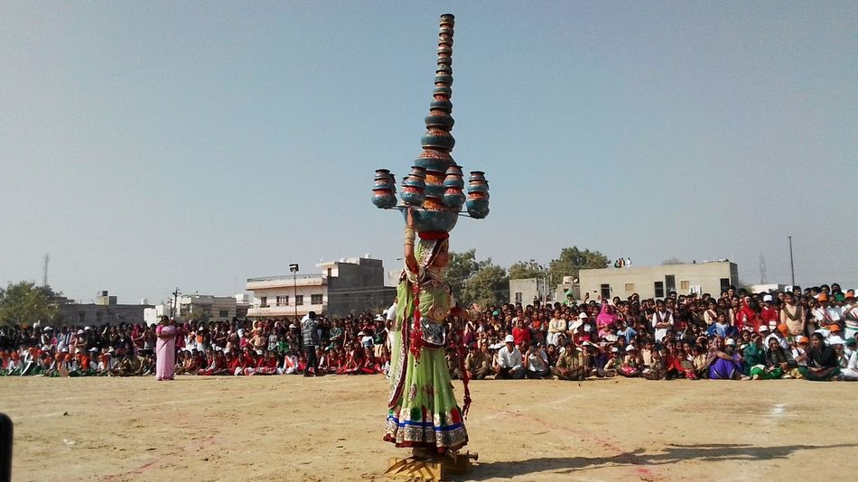 Rajasthani Dance Arts Culture And Entertainment Folk Dance Culture And Tradition Culture Of India Rajasthani Culture Large Group Of People People Sky Outdoors Crowd