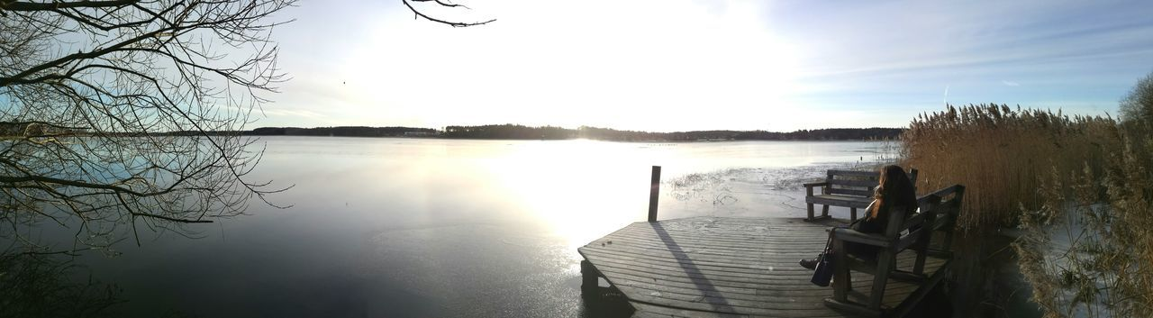 Lake Frozenlake Sweden Nyköping Tranquility